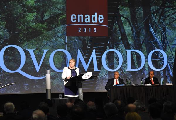 Enade 2015: Bachelet Destaca Programa Productividad Y Construcción Sustentable Como Ejemplo De Industrialización Inteligente