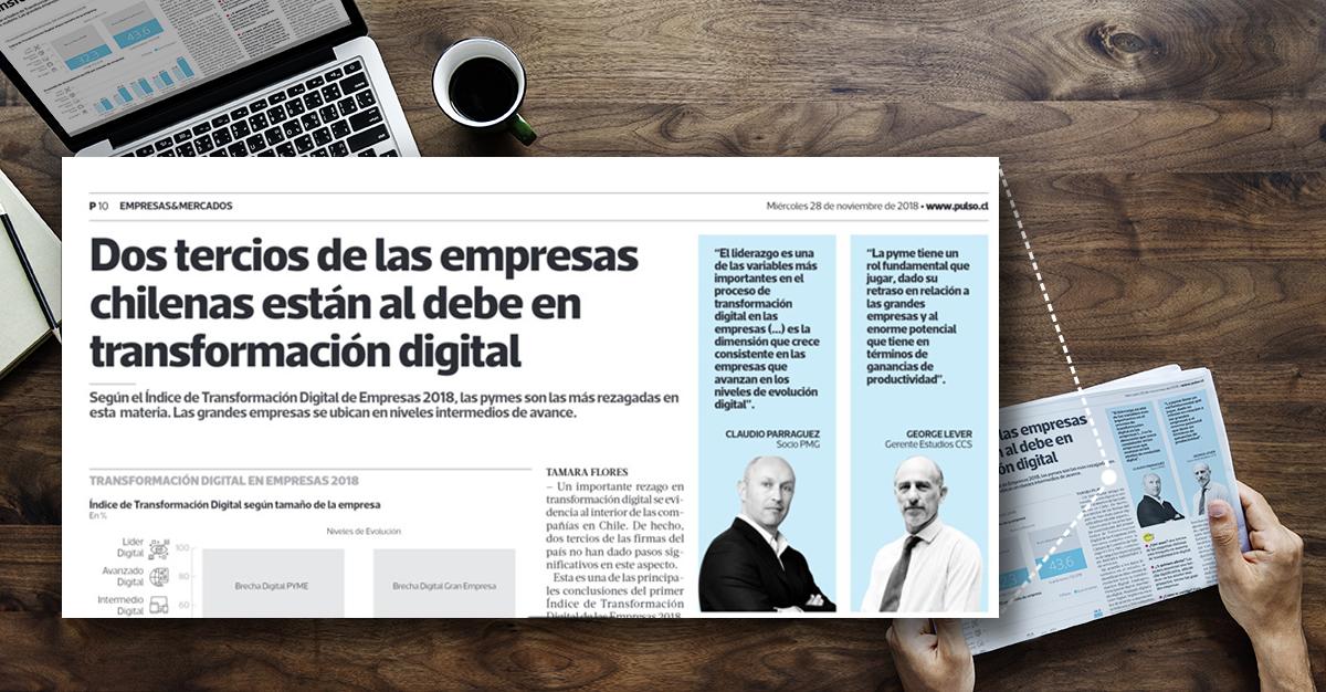 PULSO Destaca Resultados Del Índice De Transformación Digital De Empresas 2018 Realizado Por La Cámara Comercio Santiago (CCS) Y PMG